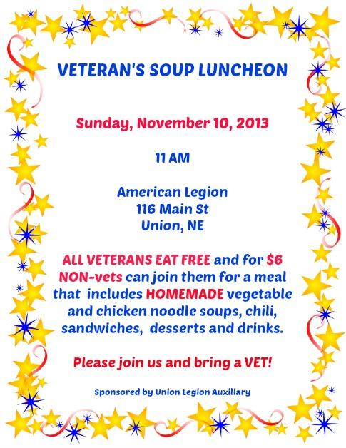 10-30 Union Aux Vets Lunch