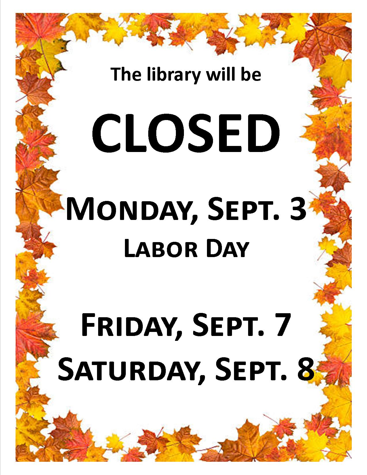 Library Closed Septjpg