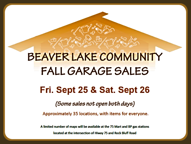 2020 09 23 Beaver Lake Community Garage Sale
