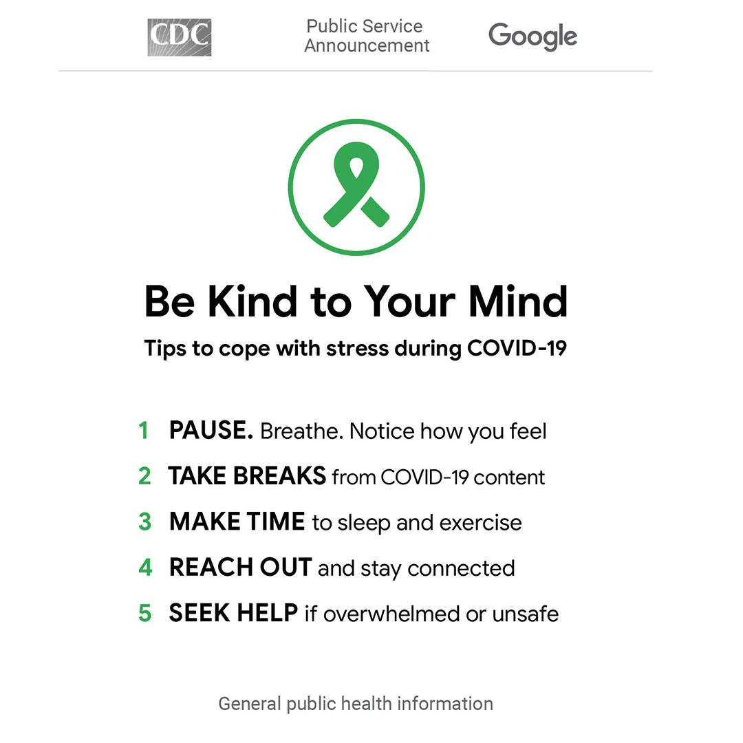 CDC be kind to your mind