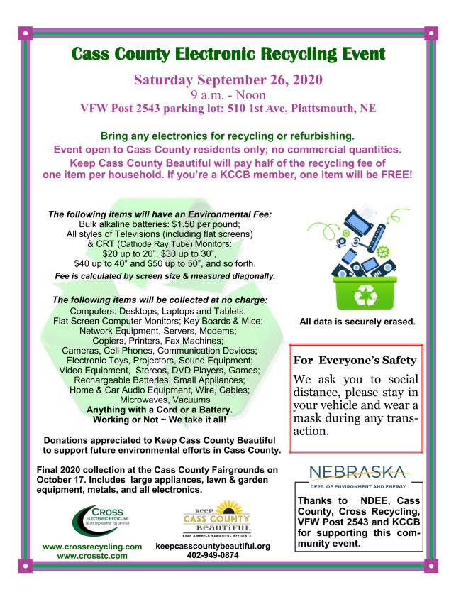 Electronic recycling 9.26.20
