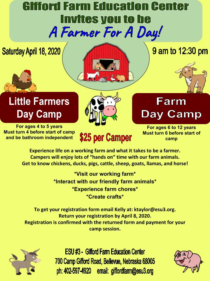 Farm Little Farmers DAY CAMP