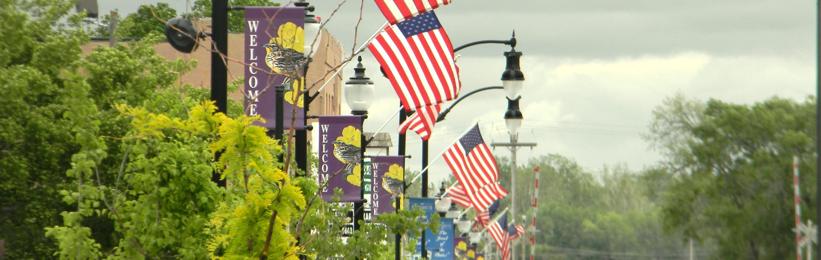 PL mainstreet flags