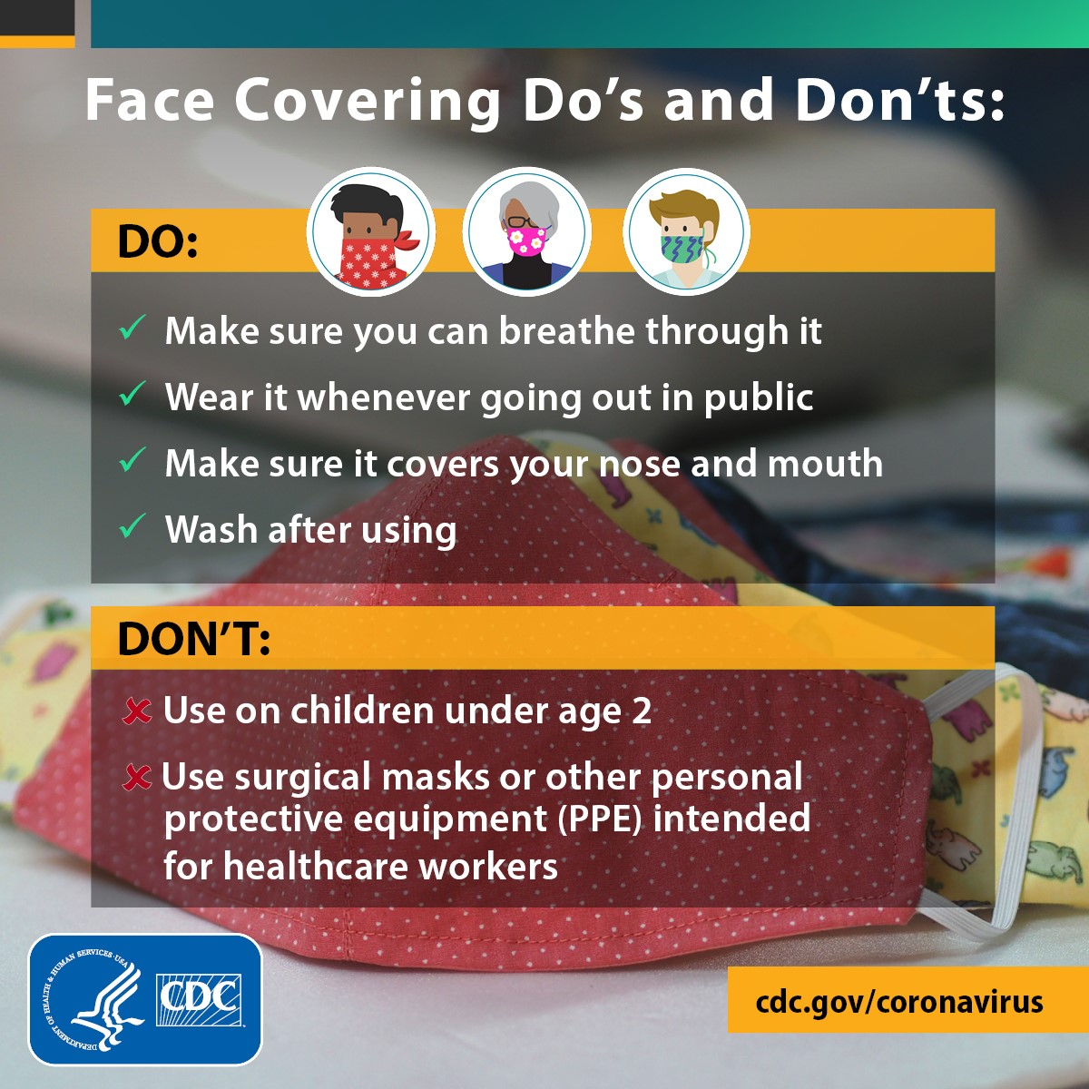 face coverings CDC