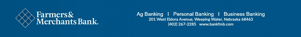 Principal Sponsor - Farmers and Merchants Bank